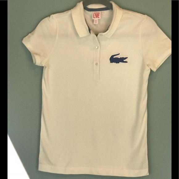Lacoste Tops Womens Polo Shirt Ivory Large Poshmark